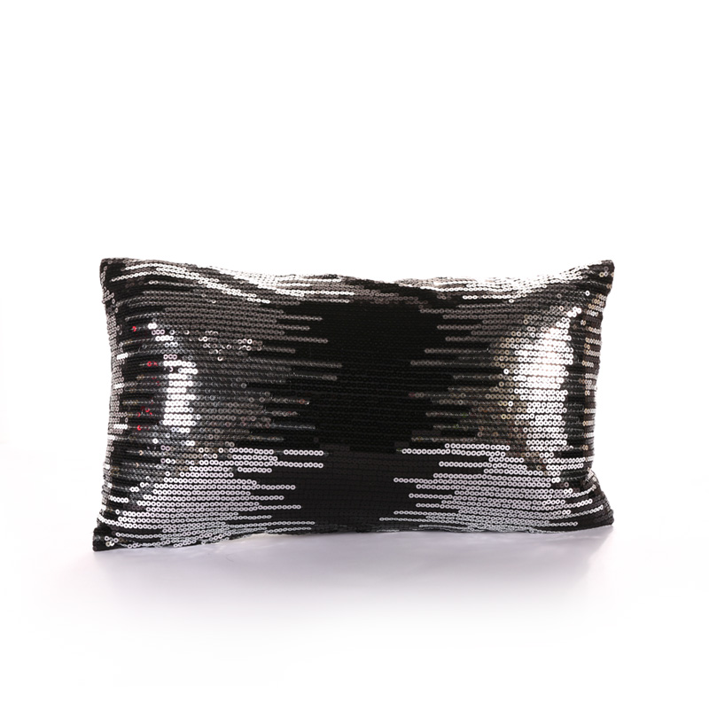PANFELOU 30*50cm environmental black sequins meteor shower Cushion Cover for sofa livingroom bedroom