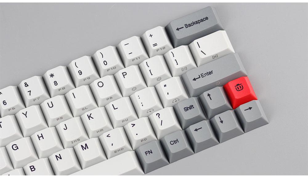 kbdfans new arrival pbt keycaps diy mechanical keyboard gk64 keycaps 2u  shift dz60