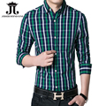 2017 autumn new men striped plaid shirts cotton Slim Fit Thin long sleeve shirt men chemise homme camisas hombre vestir