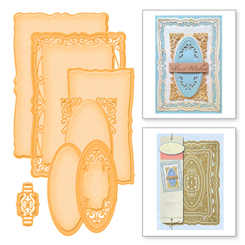 YaMinSanNiO 4 Pcs/lot Metal Cutting Dies Scrapbooking For Card Making DIY Embossing Cuts New Craft Die Pattern Photo Frame