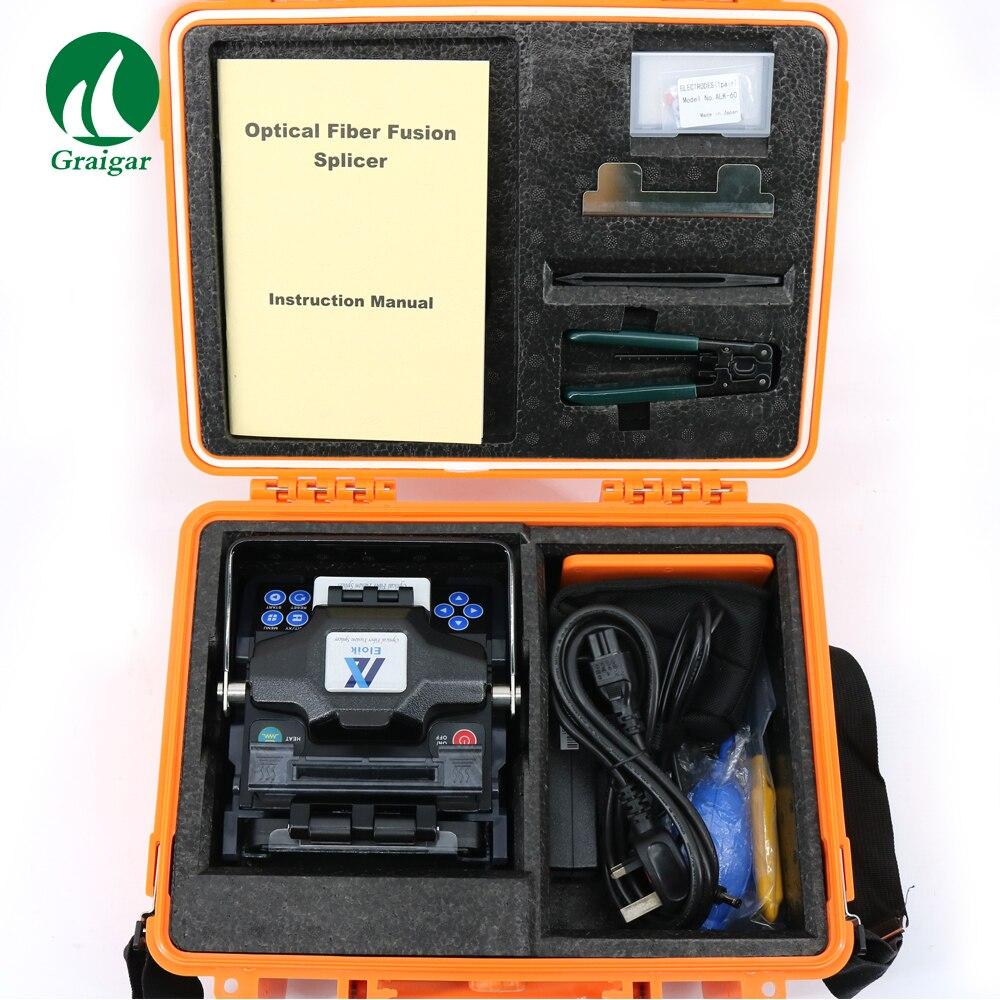 Бесплатная доставка ALK 88A Полностью Автоматического оптического волокна сварочный аппарат 7 секунд быстро сварки многоязычные