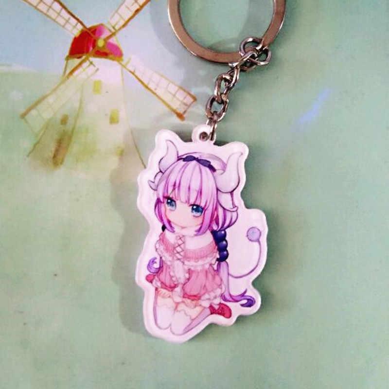 Özledim kobayashi'nin Ejderha Hizmetçi kobayashi-san Chi hayır Maid Ejderha Anahtarlık Tohru Kanna Anahtarlık Anime anahtar zincirleri Kolye Hediye cosplay