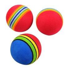 Забавные Игрушечные Мячи 3,5 см цвета радуги EVA Материал мяч пена губка собаки мяч для котов игрушки 1 шт