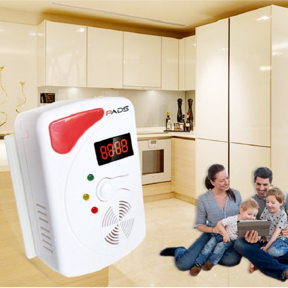 315MHz or 433MHz Smart Voice Gas Leakage Alarm Detector Digital Display LPG Detecting Device Home Kitchen Security Alert Sensor golden security lpg detector wireless digital led display combustible gas detector for home alarm system