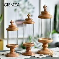 GIEMZA 홈 장식 액세서리 로마 열 유리 장식 장식 룸 장식 유럽 스타일의 홈