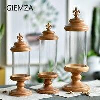 GIEMZA decoración accesorios de columna Romana de cristal decorativo ornamento decoración de la habitación de estilo Europeo muebles para el hogar manualidades