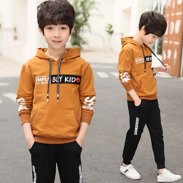 Spring New 2018 Casual Boy Tracksuit Pullover Jogging Set Childen Hoodies Sweatpants Sports Suit baby Children's Clothing Set 1