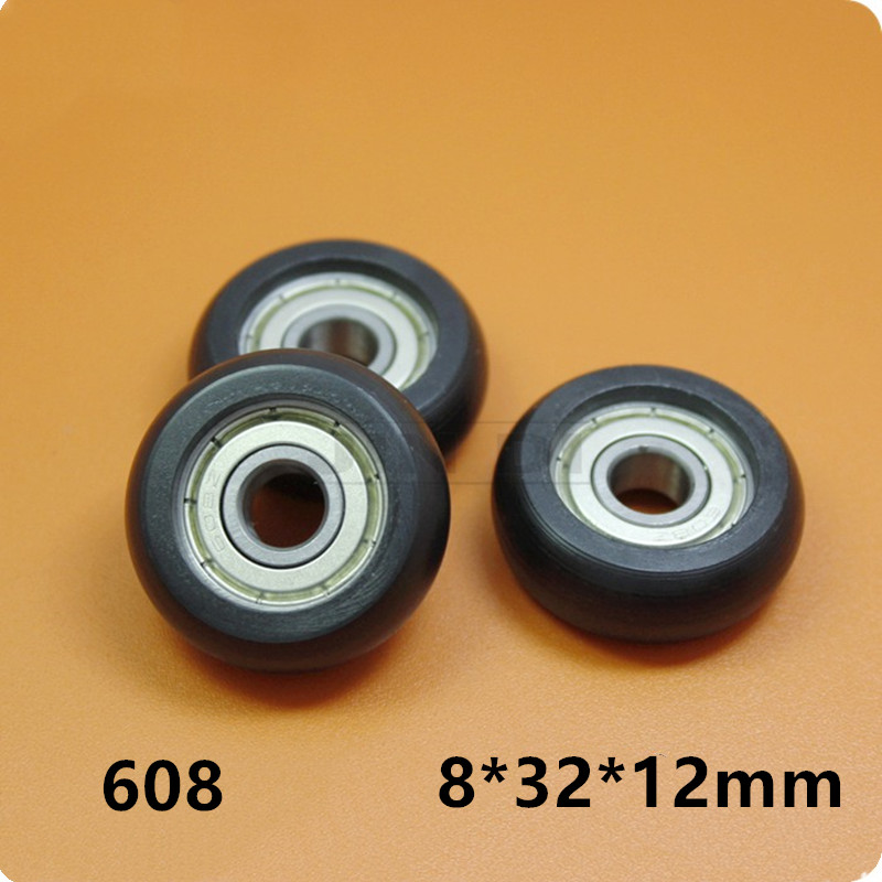BT0832 608ZZ 608Z 608 Nylon Wheel Hanging / Ball Bearing With Pulley Wheel For Doors And Windows 8*32*12MM Wholesale+retail