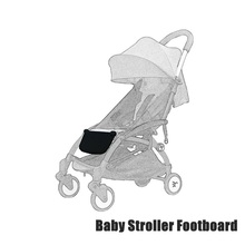 Newbealer Black Baby Stroller Footboard Foot Rest Pram Buggy Baby Infant Sleep Sit Extendable Board Stroller Accessories