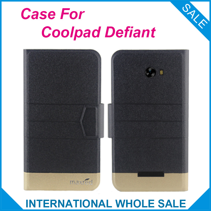 5 Colors Original!Coolpad Defiant Case High Quality Flip Ultra-thin Luxury Leather Protective Case For Coolpad Defiant Cover