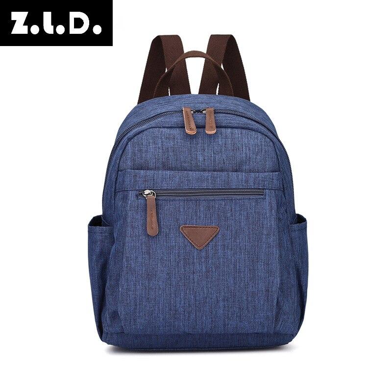 Z.L.D.2018 New Shoulder Bag, Splash Proof Small Backpack, Seven Color Optional Portable College Style Canvas Backpack women bag