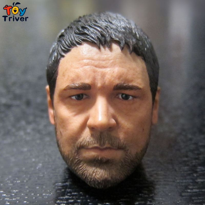 ФОТО 1/6 Scale Gladiator Maximus Russell Crowe Head Sculpt Head Models DIY Accessories Toys Figure Body 12