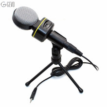 SF-930 Condenser Microphone Professional 3.5mm Stereo Plug Wired Mic Studio Speech with Stand for Desktop Notebook Karaoke