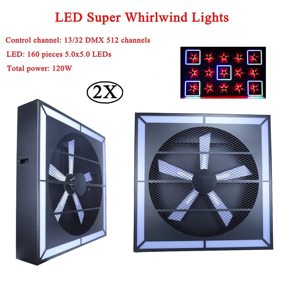 2Pcs/Lot Professional Stage Effect Light 120W LED Super Whirlwind Light Laser Projector Light For Disco DJ KTV Party Night Light