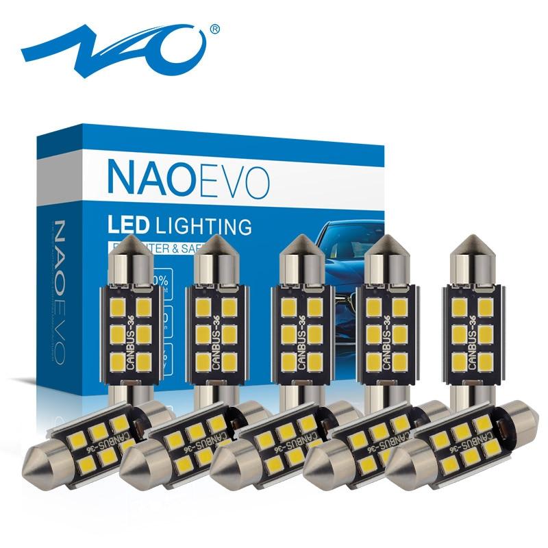 NAO Singal-Lamp Led-Festoon C5W 36mm C10w Led-Bulb Car-Interior-Light CANBUS 28mm 31mm