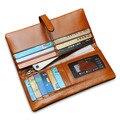 Men Womem Genuine Leather Couple Long Wallet Card Holder Pocket Handbag 2016 New