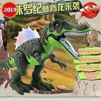 NEW Electric Simulation Dinosaur Kid Toy 52CM Large Walking Shake Head Wave Jurassic Tyrannosaurus Rex Dinosaur With Sound Light