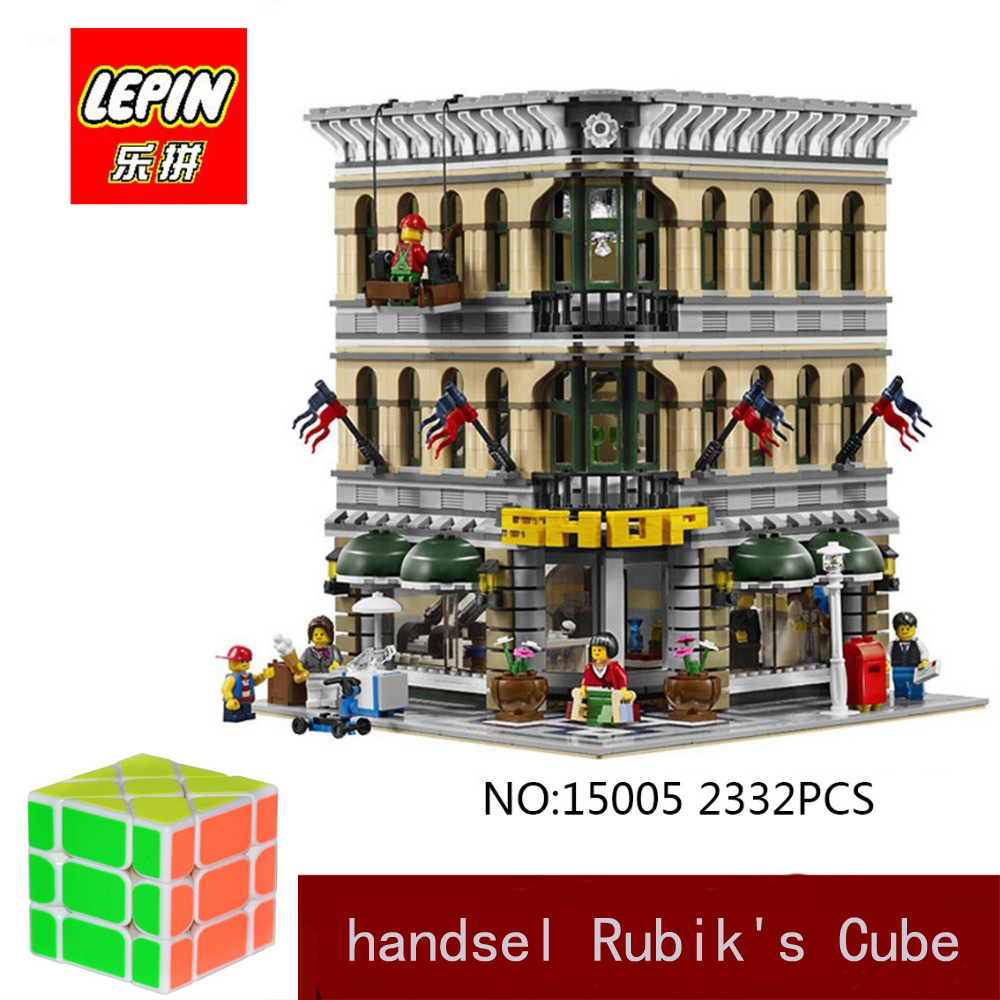 DHL LEPIN 15005 2332PCS City Street Grand Emporium Model Building Kits Blocks Assembling Bricks Compatible legoed 10211