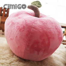 new creative plush apple toy cute simulaiton pink apple pillow gift about 40cm