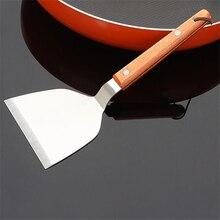 Лопата для пиццы из нержавеющей стали, высокое качество, лопата для пиццы с деревянной ручкой, торты, блины, лопатка для пирога, кухонные инструменты для приготовления пищи