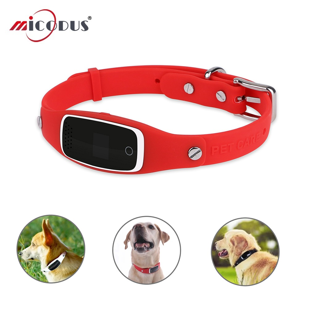 Pet Collar Dog GPS Tracker S1 GSM GPRS Locator Silicon Collar Real Time Tracking GPS LBS WIFI Positioning Free Web APP Tracking gsm gprs gps car motorcycle anti theft satellite locator red black