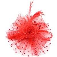 Fashion Bruid Veer Netting Imitatie Parels Kralen Tovenaar Hairclip Haar Hoepel Party Hoofddeksel