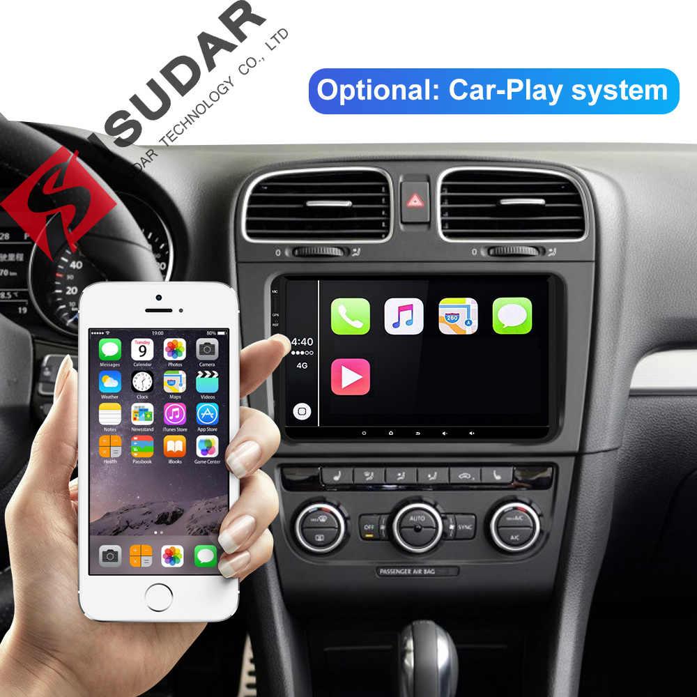 Isudar 1 DIN Android 9 Tự Động Phát Thanh Xe Volkswagen/VW/Polo/Passat/Golf/Skoda/ octavia/Ghế/Leon Đa Phương Tiện GPS Người Chơi Hình USB DVR