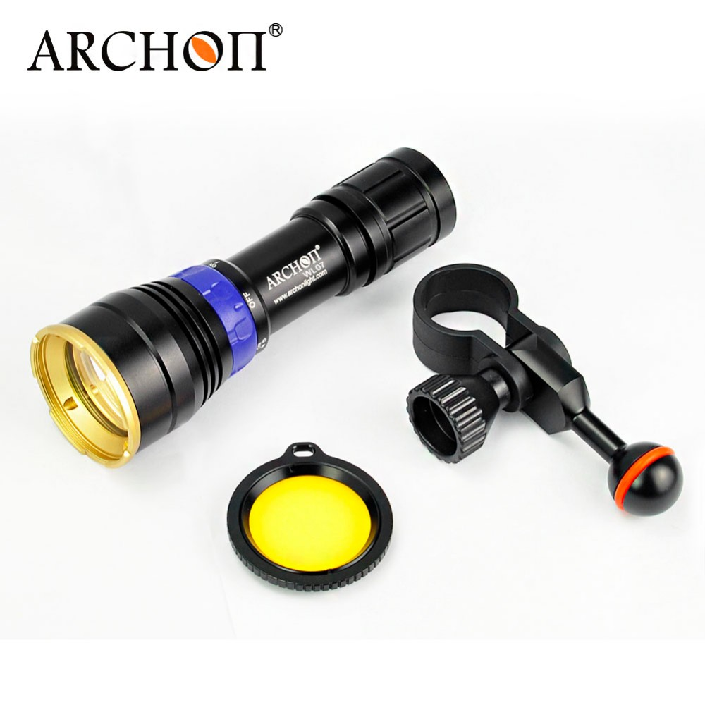 Archon DL01 Blue LED Diving Flashlight Underwater Photographing Video Light with Filter 26650 Rechargeable Battery included 100% original archon d37vp update d36vr w42vr u2 uv multifunction underwater photographing sea diving flashlight video light