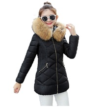 2018 Winter jacket women Faux Fur Hooded outerwear long down cotton-padded jacket coat wadded jacket winter coat women S-XXXL winter children s fur coat long style boy leather clothing hooded girl faux fur jacket thickening plus velvet cotton outerwear