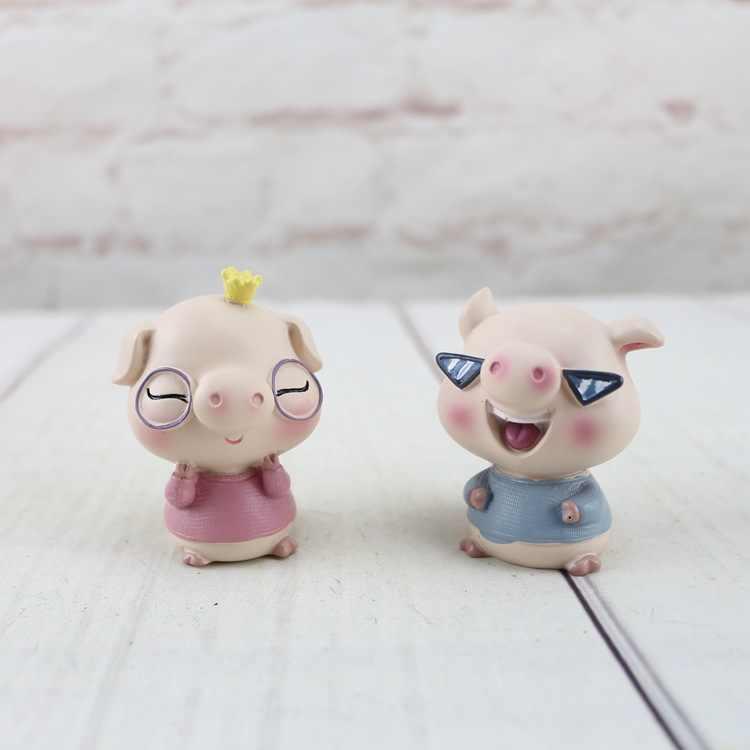 Новые экзотические Модные крутые свиньи украшения для дома качающаяся голова свинья Милая свинья украшение автомобиля украшения украшение торта, выпечки украшения