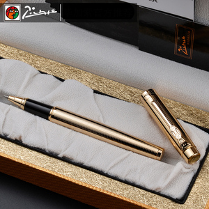 Image 2 - Pimio 933 럭셔리 골드 Metla 롤러 볼펜 0.7mm 검정 잉크 리필 볼펜 선물 펜 쓰기 문구 무료 배송