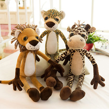 60cm Lovely big eyes giraffe lion plush toys tiger leopard doll toy Christmas present Kids gift Large size Doll