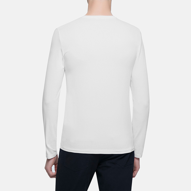 Calvin Klein Jeans / CK 2017 Autumn Winter New Men's Cotton Casual Long Sleeved T-shirt Men Classic Round Neck Tops Tees 4AOKN94
