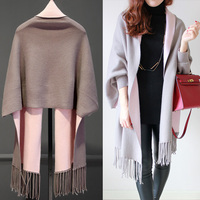 2017 maternity women new spring shawl cardigan long-sleeved cloak thicken double wear sweater tassels knit coat for pregnant