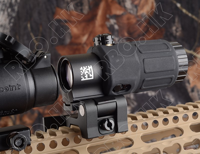 Tactical Red Dot Sight Scope 3x Magnifier For Side Flip Mount Fit Picatinny Rial Mount Base Bk M7467