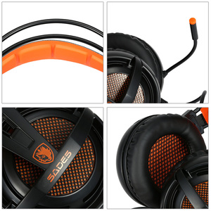 Image 3 - $32 8 SADES A6 USB Over Ear Stereo wired gaming headphone game headset over ear with mic Voice control for laptop computer gamer