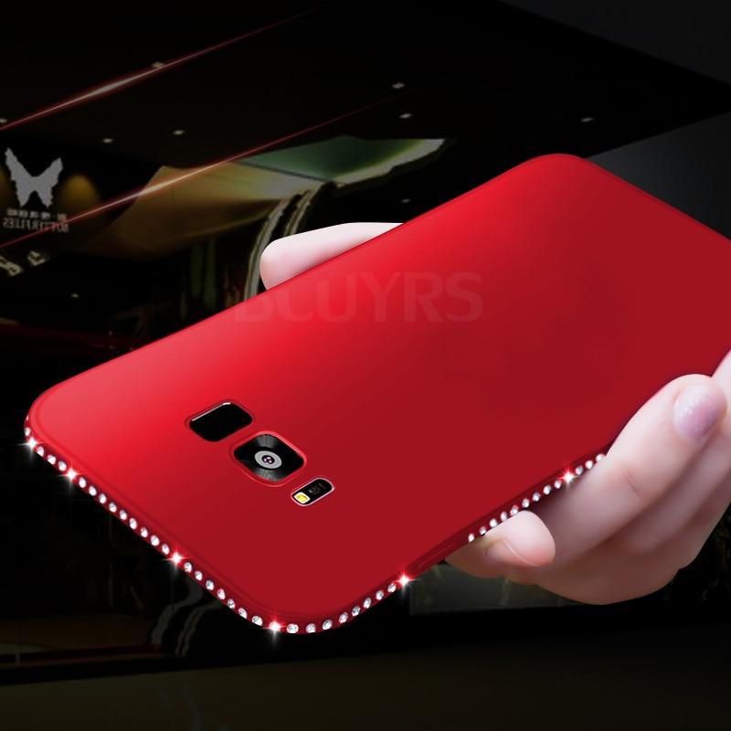 Diamond Silicone Cover Cases For Samsung Galaxy A8 A6  S8 S9 Plus S7 Edge J3 J5 J7 Prime A5 A3 A7   Soft TPU