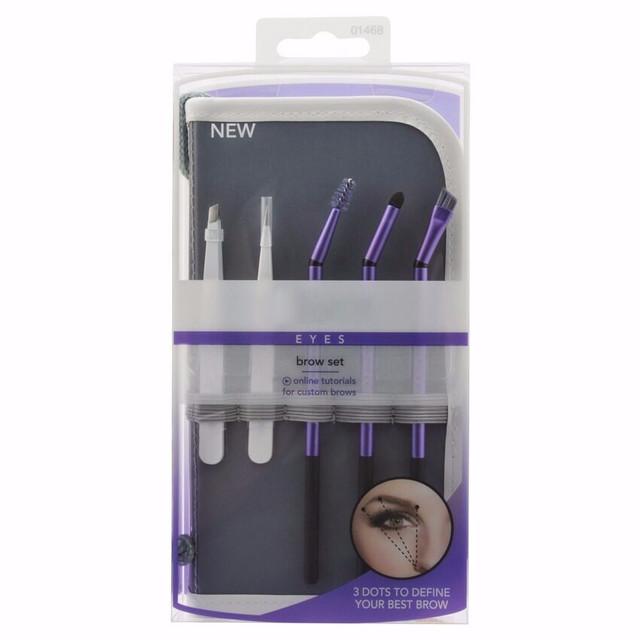 Eyebrow Makeup Brushes & Tweezer Kit