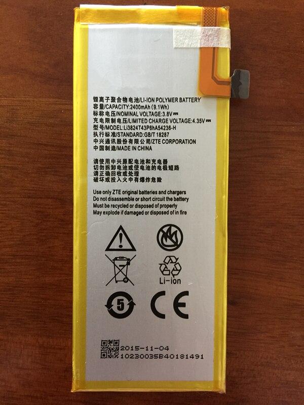 3.8V 2400mAh Li3824T43P6hA54236-H For ZTE Blade S6 5.0