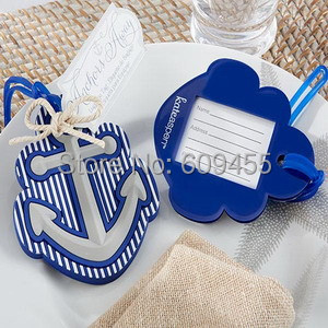 200pcs/lot+Newest Style Highest Quality Rubber Anchor Luggage Tag Beach Themed Wedding Favors&Bridal Shower Favor+FREE SHIPPING