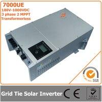 7000 W 180V 1000VDC трехфазный Бесконтактный сетевой инвертор на солнечных батарейках инвертор с 2 со слежением за максимальной точкой мощности