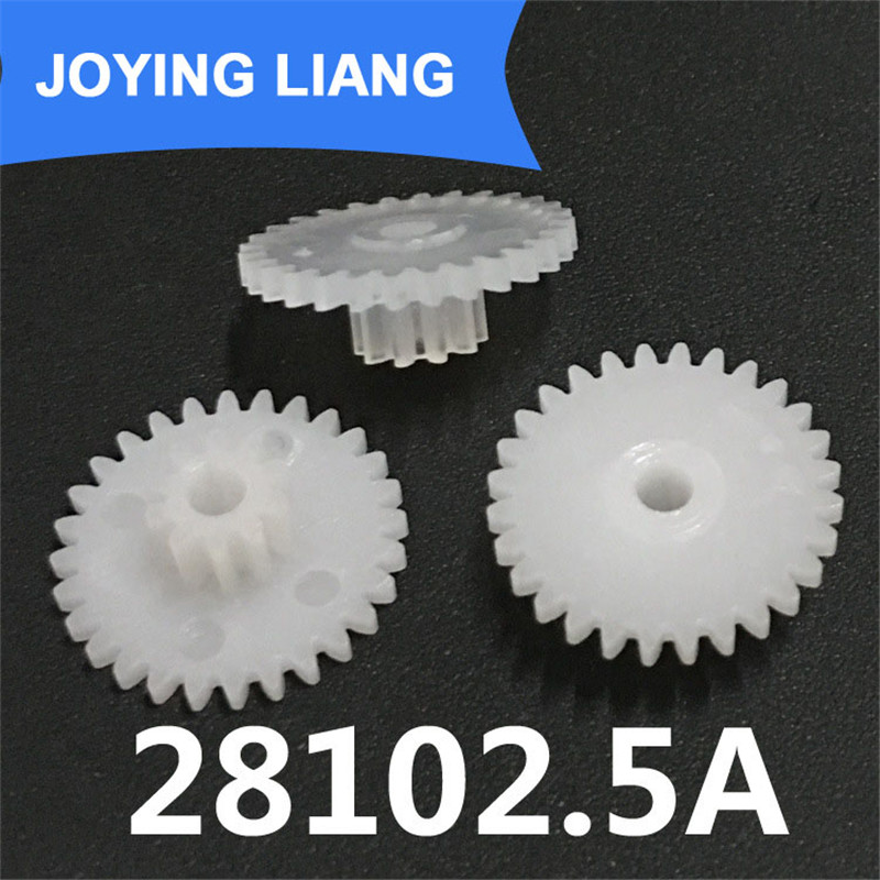 28102.5A Gear 0.5M Plastic Gear Double Cone 28 Tooth/ 10 Tooth Tight 2.5mm Shaft Hole (2500pcs/lot)