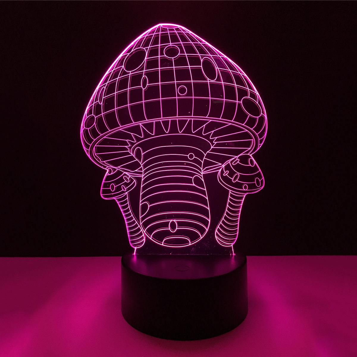 Mushroom 3D Acrylic LED Lamp 3D Baby Night Light Sleeping Lighting For Children Night Light Xmas Holiday Light P25
