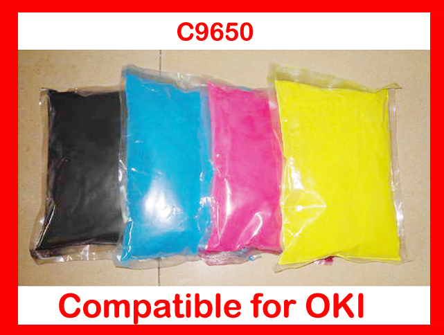 High quality toner powder compatible OKI C9650 9650 Free Shipping 4 pack high quality toner cartridge for oki c5100 c5150 c5200 c5300 c5400 printer compatible 42804508 42804507 42804506 42804505