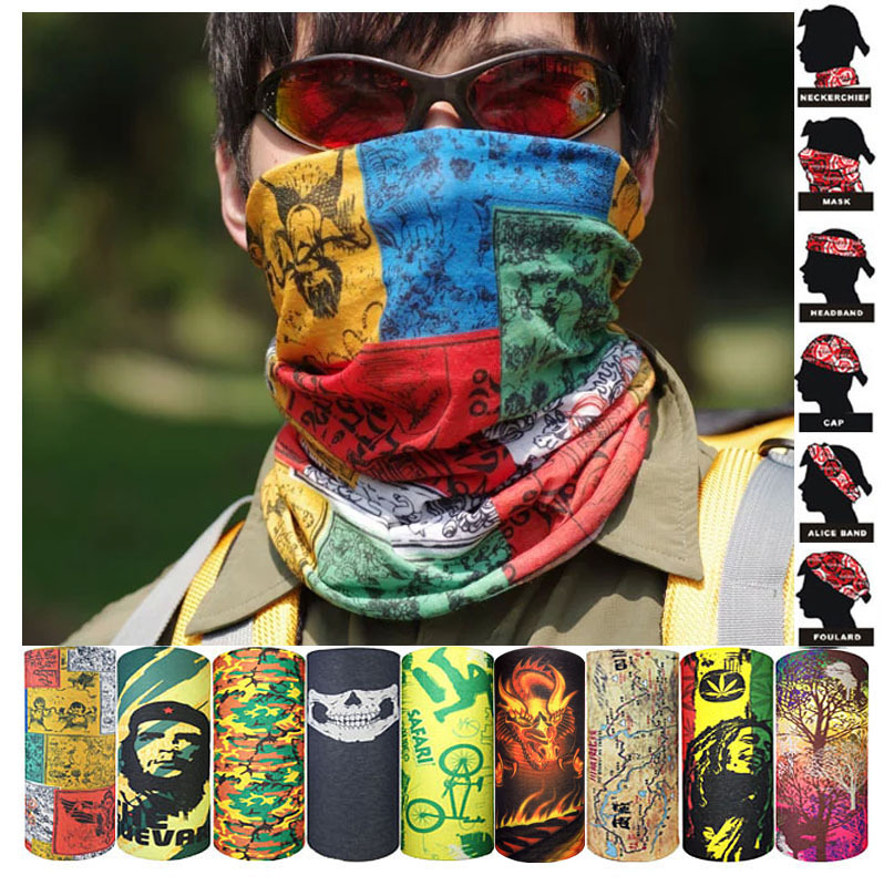 Men Scarf Ring Scarf Neck Gaiter Shemagh Bandanas Tube Headband Unisex Motorcycle Skull Kaffiyeh Hijab Turban braga cuello buffe(China)