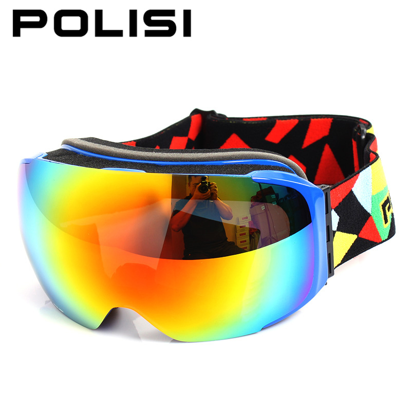 POLISI Winter Skiing Goggles Men Women Replaceable Night and Daytime Lens Eyewear UV400 Anti-Fog Snowboard Snow Glasses topeak outdoor sports cycling photochromic sun glasses bicycle sunglasses mtb nxt lenses glasses eyewear goggles 3 colors