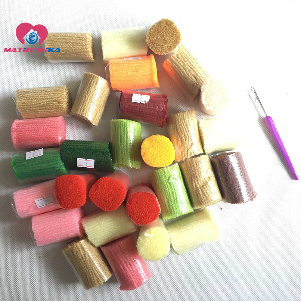 שטיח רקמת ערכות וו בריח שטיח ערכות foamiran לרקמה כפתור חבילה שטיח כפתור ולמשטח זה בעצמך עיצוב הבית