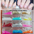 5 sacos 5g sequin hexágono glitter pó poeira faísca para UV unhas de acrílico, belas unhas floco paillettes glitter pigment decoração