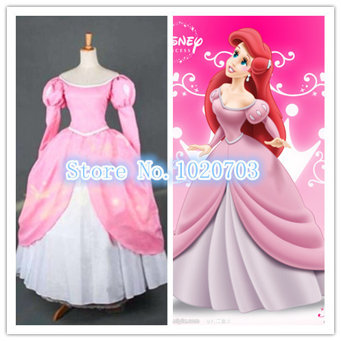 Online Buy Wholesale pink ariel dress from China pink ariel dress ...