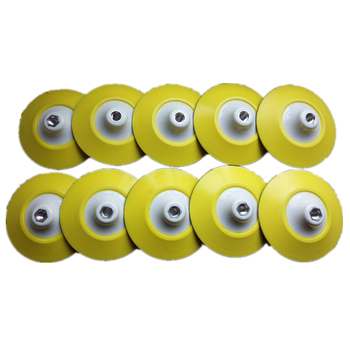 10pcs 6 Pneumatic Air Sander Grinder Pads 6-inch 150mm Sanding Buffing Machine Discs Wheels with Velcro M14 Thread 6 inches pneumatic sander pneumatic polishing machine 150mm air sanding grinder tool